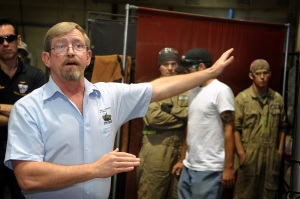 Soldiers Explore Stryker Facility in Qatar