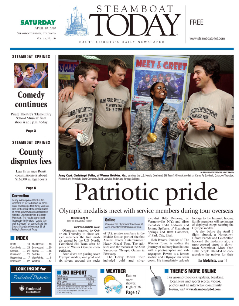Olympians Share Medals With Troops Overseas
